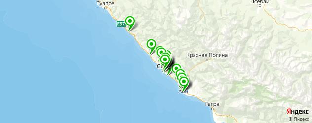 Авто на карте Сочи