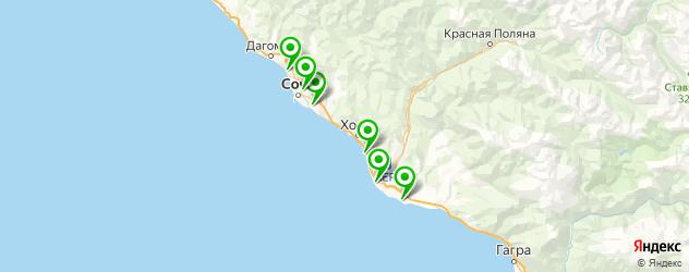 наращивание ногтей на типсы на карте Сочи