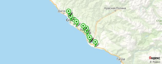 вечерняя прическа на карте Сочи