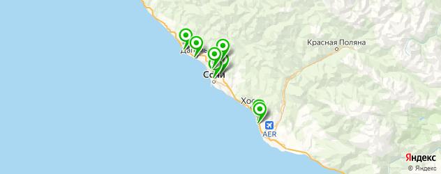 боулинги на карте Сочи