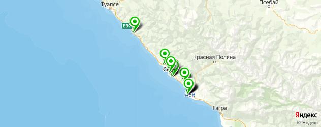 экскурсии на карте Сочи