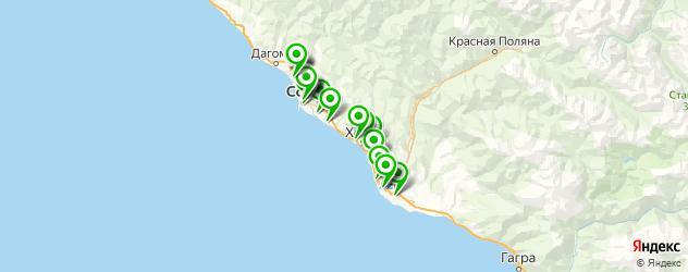салоны бровей на карте Сочи