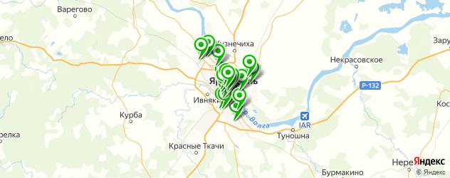 Спорт и фитнес на карте Ярославля