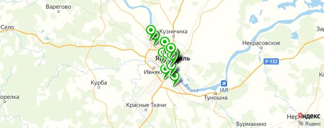 рестораны с танцполом на карте Ярославля
