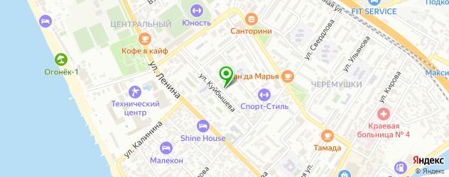 общежития на карте Сочи