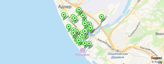 поминки на карте Адлера