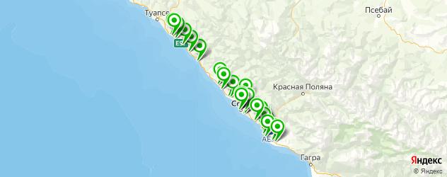 отделения Почты России на карте Сочи