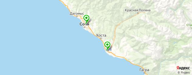 квесты на карте Сочи