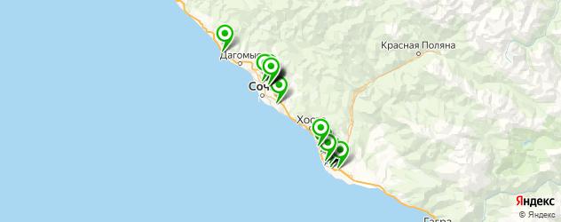 установка автоакустики на карте Сочи