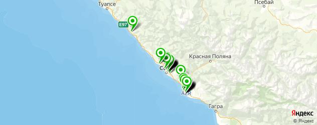 автозапчасти для отечественных автомобилей на карте Сочи
