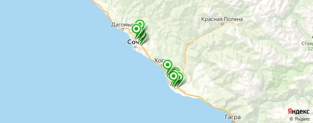 тюнинг внедорожников на карте Сочи