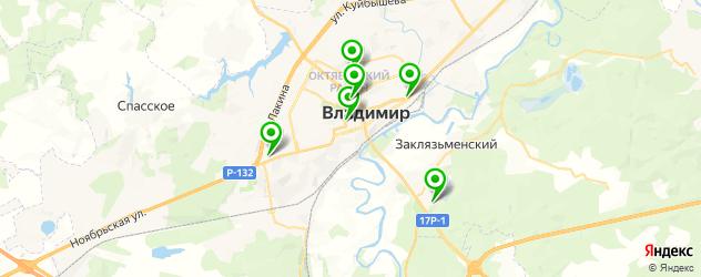 реабилитационные центры на карте Владимира