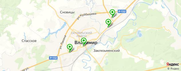 кинотеатры на карте Владимира