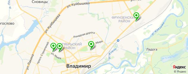 детские больницы на карте Владимира