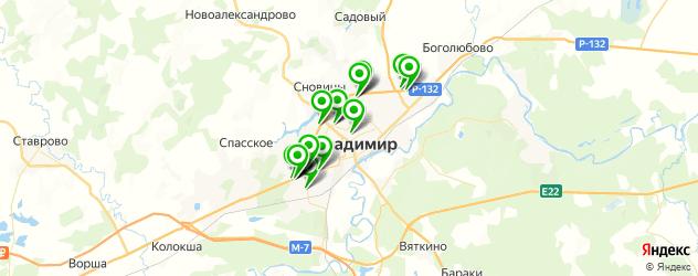 мотосалоны на карте Владимира
