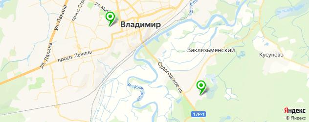 санатории на карте Владимира