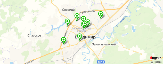 чип-тюнинг на карте Владимира