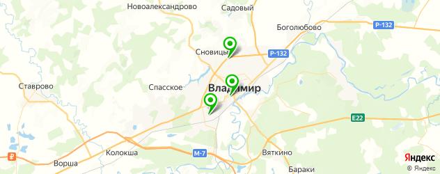 бары с танцполом на карте Владимира