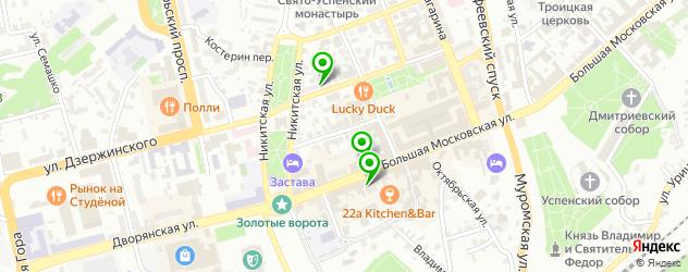 антикафе на карте Владимира
