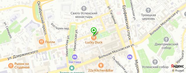 гольф-клубы на карте Владимира