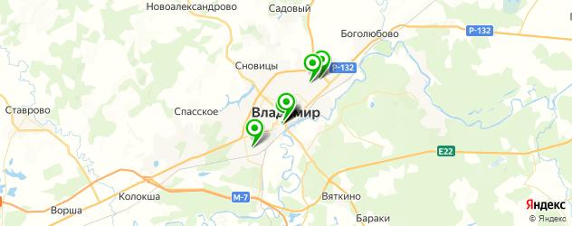 бары с живой музыкой на карте Владимира