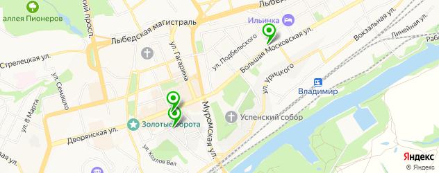 картинные галереи на карте Владимира