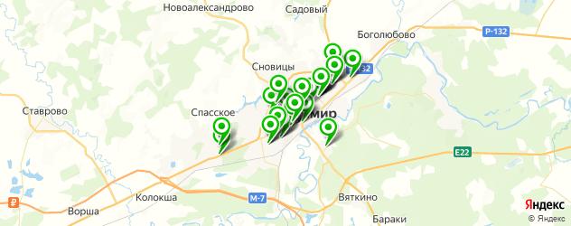 школы танцев на карте Владимира