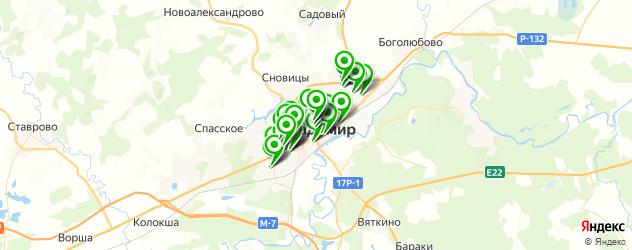 студии загара на карте Владимира