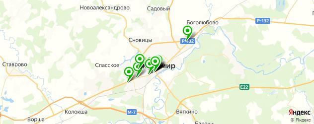 ночные клубы на карте Владимира