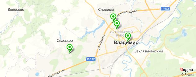 НИИ на карте Владимира