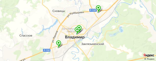 гимназии на карте Владимира