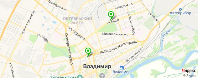 гаражи на карте Владимира