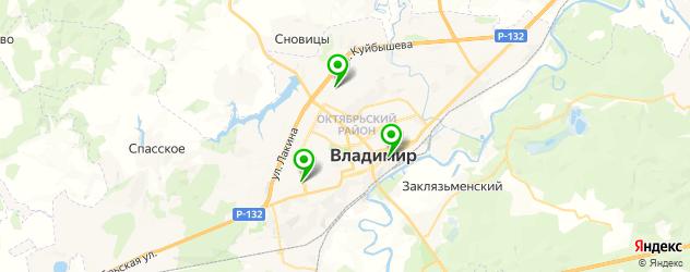 парковки на карте Владимира