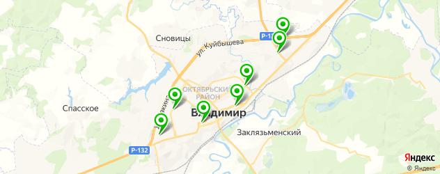 бассейны на карте Владимира