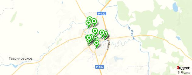 бани на карте Суздаля