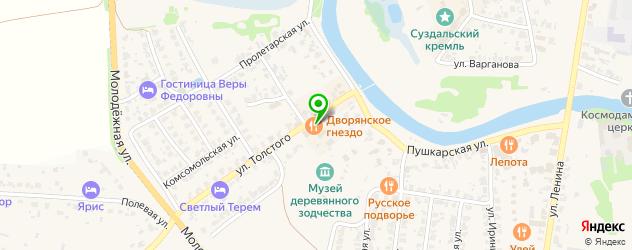 бары-рестораны на карте Суздаля