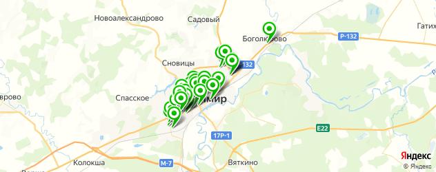 стоматологические клиники на карте Владимира