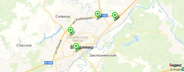 салоны бровей на карте Владимира