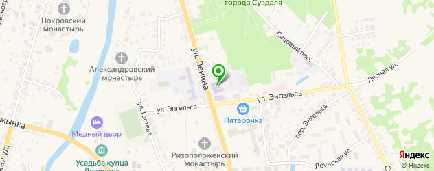 университеты на карте Суздаля