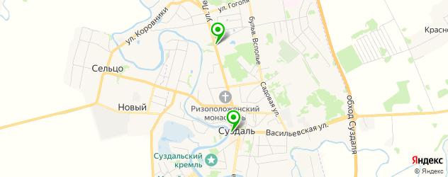 Доставка шашлыка на карте Суздаля