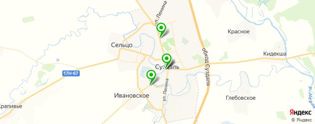 доставка на карте Суздаля