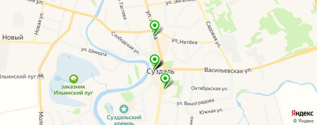спорты-бары на карте Суздаля