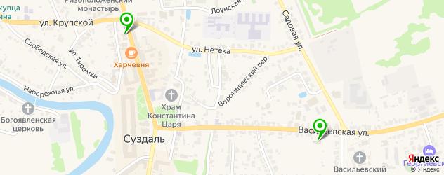 гранитные мастерские на карте Суздаля
