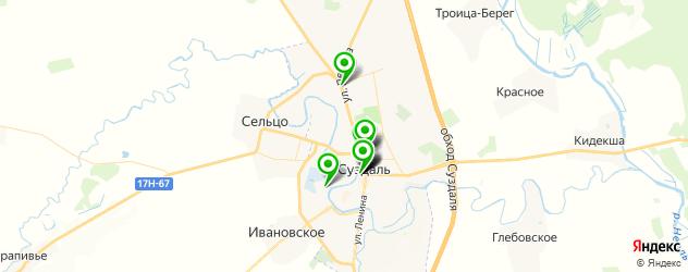 кафе для поминок на карте Суздаля