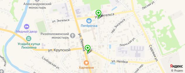 салоны оптики на карте Суздаля