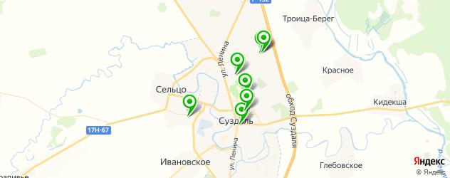 детские сады на карте Суздаля