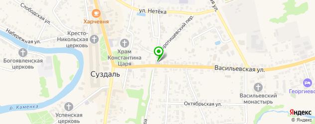 гимназии на карте Суздаля