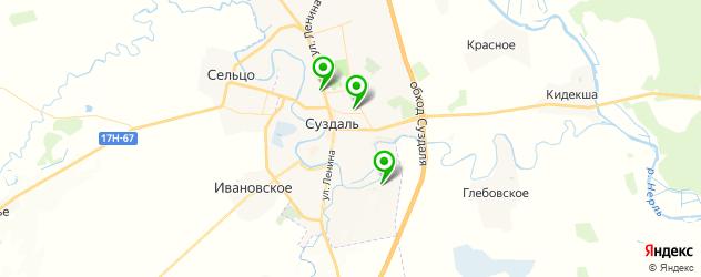 школы на карте Суздаля