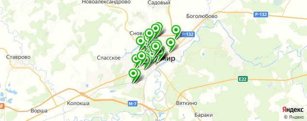 столовые на карте Владимира