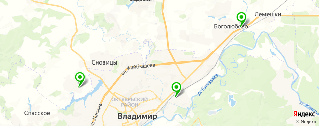 конные клубы на карте Владимира